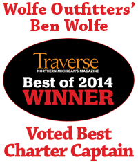 Best of 2014 Winner Best Charter Captain Traverse Bay